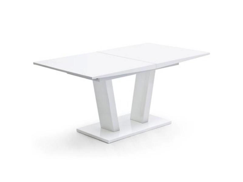 Table repas extensible design flave 160cm blanche 20100872515