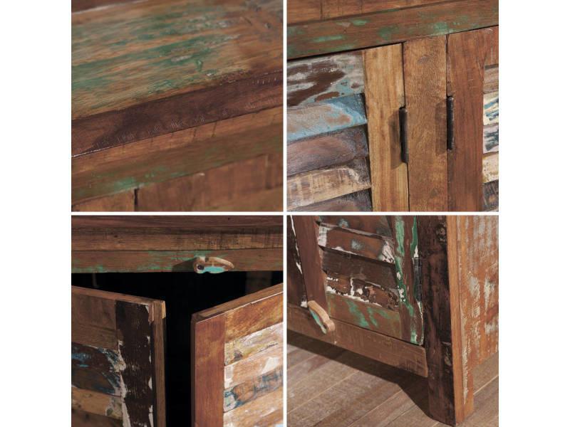 commode originale 125x40x95 cm vintage r tro portes. Black Bedroom Furniture Sets. Home Design Ideas