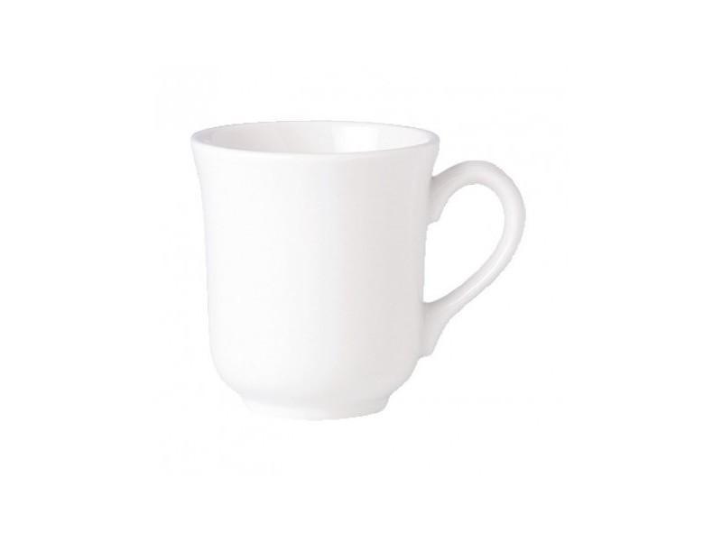Mugs 285ml steelite simplicity white - vendus par 36 - 0 cm porcelaine 28,5 cl