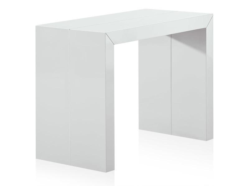 Table console extensible nassau laquée blanc