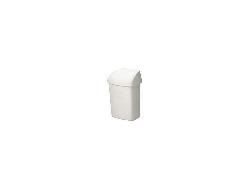 Curver poubelle à couvercle basculant, 50 litres, blanc