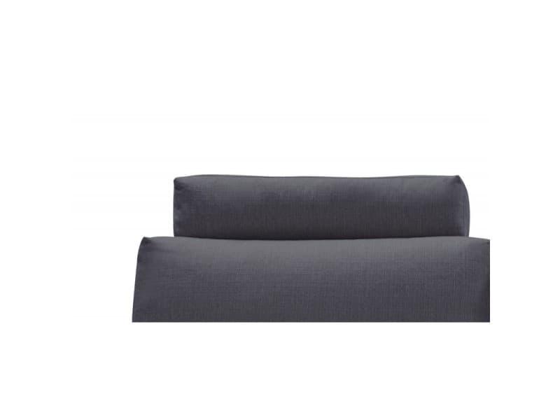 Têtière appuie tête tissu gris anthracite pour canapé d'angle alix