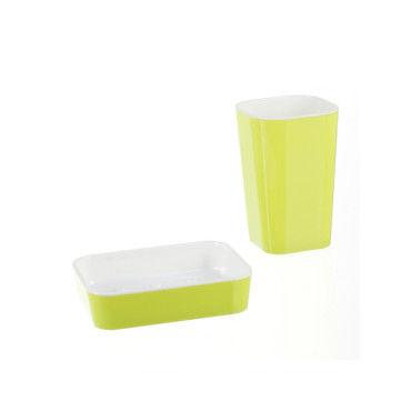 Porte savon et gobelet de salle de bain pastel vert for Porte savon salle de bain