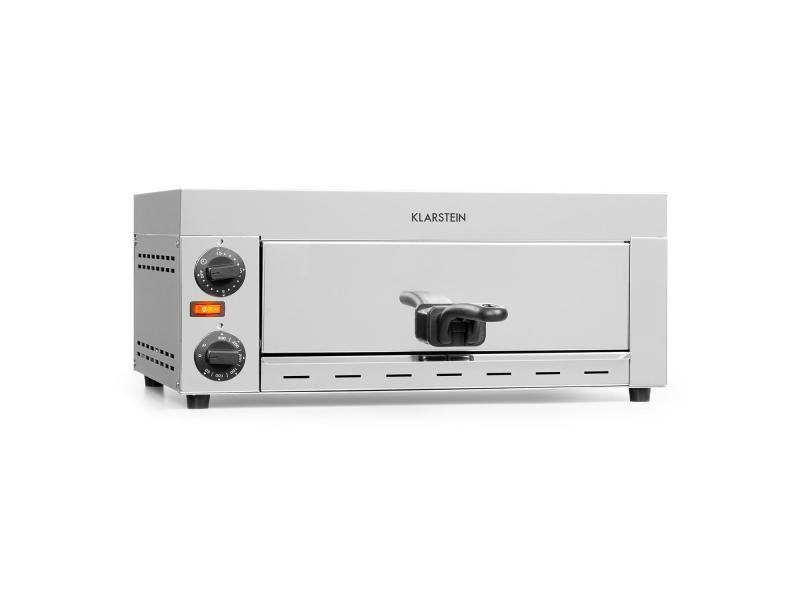 Klarstein vesuvio four à pizza professionnel 1 chambre - 1130w - température réglable jusqu'à 300°c - minuterie - inox argent OV13-Vesuvio1