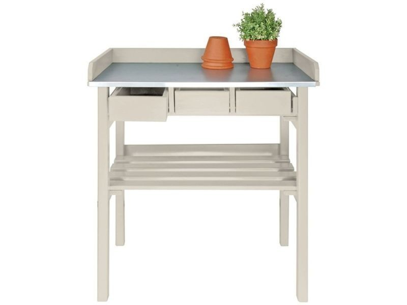 Esschert design table de rempotage blanche cf29w 404624