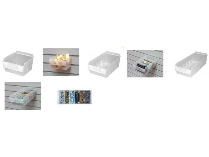 Outifrance - bac plastique 130 x 310 x h.80 mm (6 compartiments) - 22320