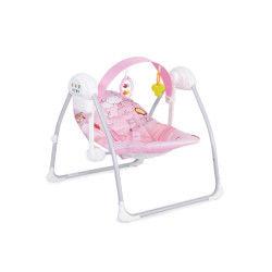 Transat balancelle bébé éclectique rose