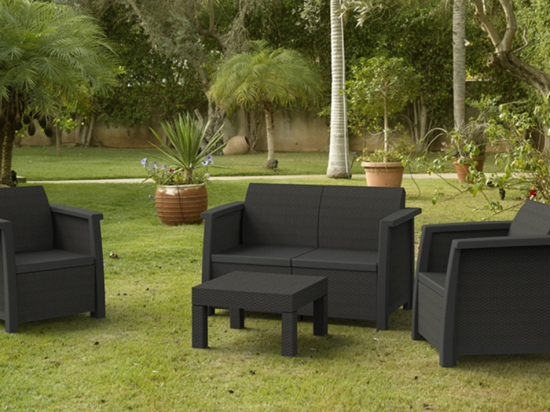 salon de jardin vegas lounge set vegas vente de keter conforama. Black Bedroom Furniture Sets. Home Design Ideas