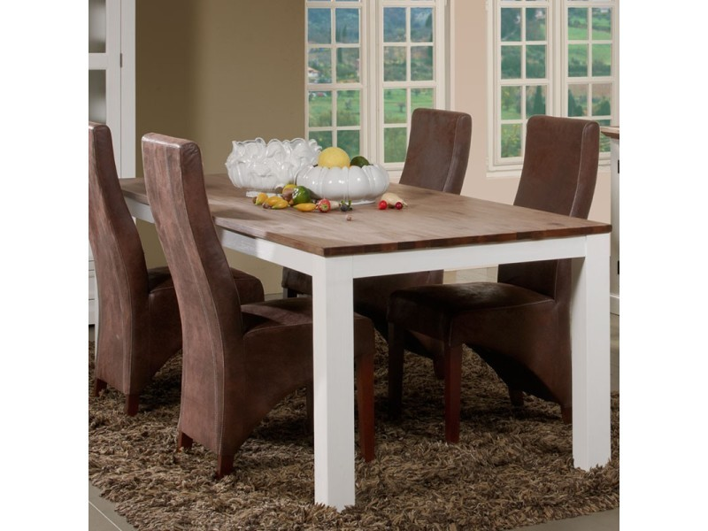 Table de repas 220 cm - rio - l 220 x l 100 x h 78 - neuf