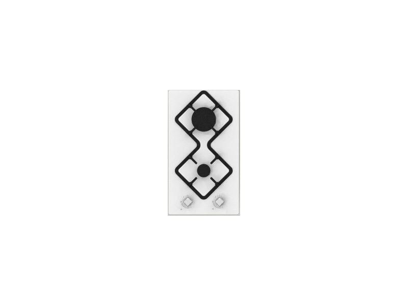 Table de cuisson gaz domino hdg2b hudson - 2 foyers - email blanc HUDHDG2B