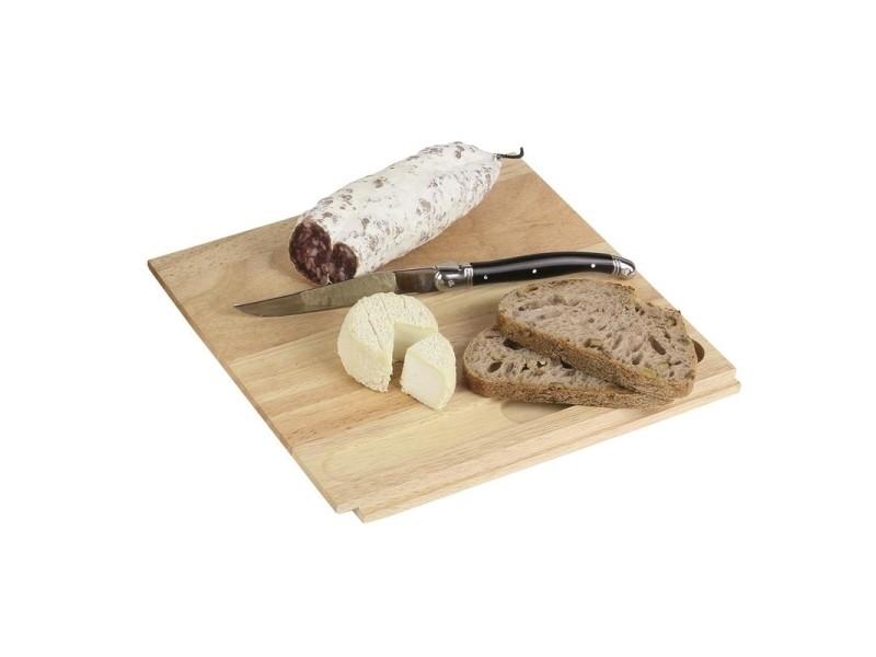 Cave d'affinage à fromage avec couteau - bois