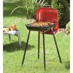 Barbecue à charbon transportable bragado - acier - rouge
