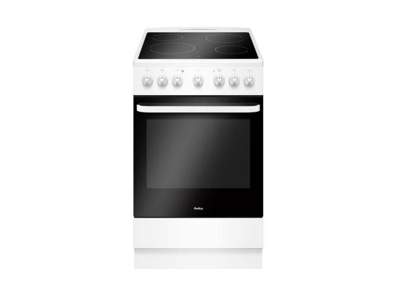 Cuisinière vitrocéramique 65l 4 feux blanc - acv603b acv603b