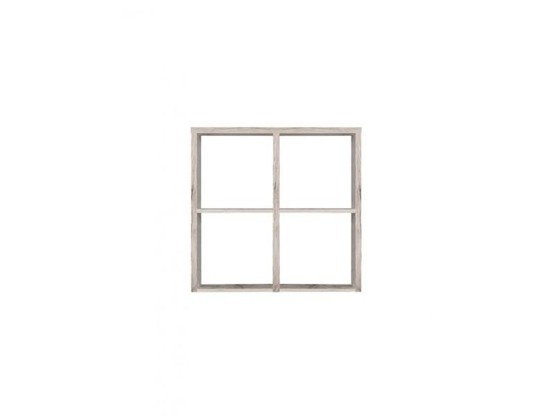 Étagère cube 4 casiers décor chêne gris - classico