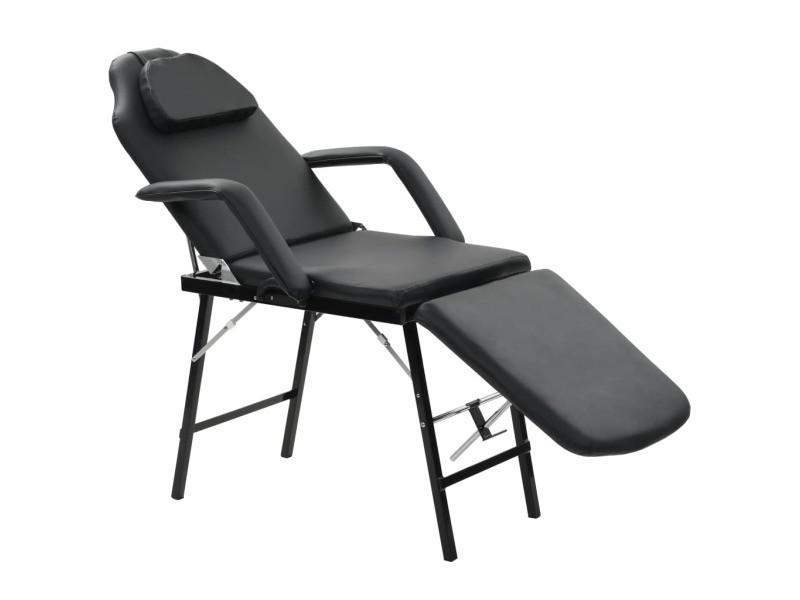 Joli massage et relaxation ensemble são tomé fauteuil de massage pour traitement facial simili-cuir noir