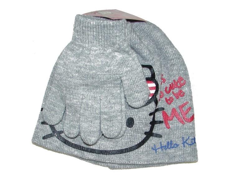 b7e156d125a34 Bonnet gants hello kitty gris taille 52 disney enfant - Vente de ...