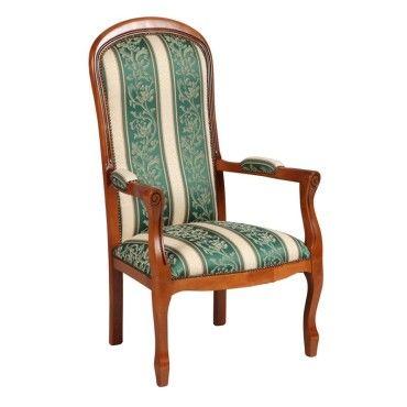 fauteuil voltaire motifs fleurs vert george l 61 x l 70 x h 112 neuf vente de. Black Bedroom Furniture Sets. Home Design Ideas