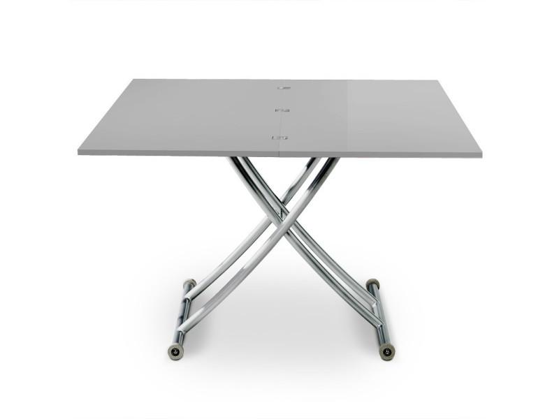 Table basse relevable philadelphia gris laqué