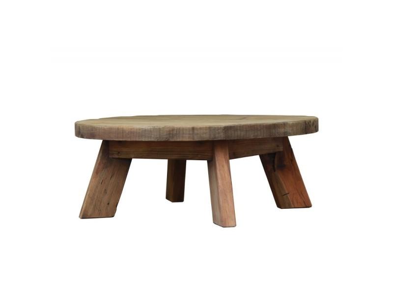 Table basse ronde 90 cm - chalet