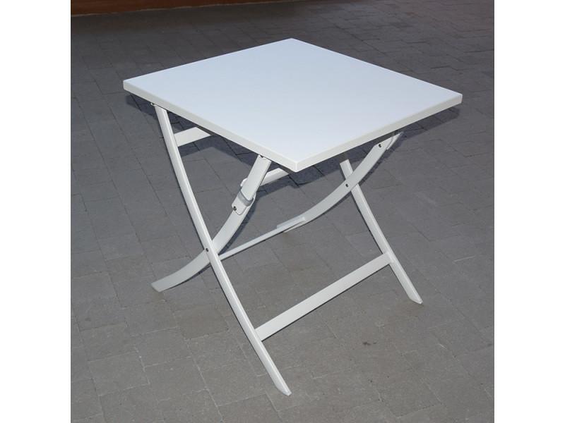 Table pliante carrée en alu blanc 70 x 70 cm grace - Vente de GECKO ...