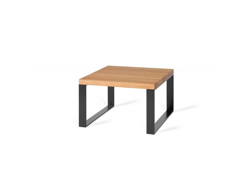 Table basse industrielle métal et bois massif begonia / coloris : chêne