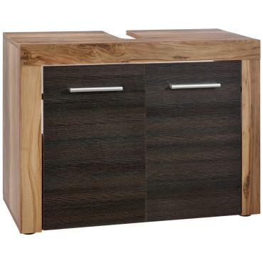 Cancun meuble sous lavabo noyer finition satinée lxhxp 72 x 56 x ...