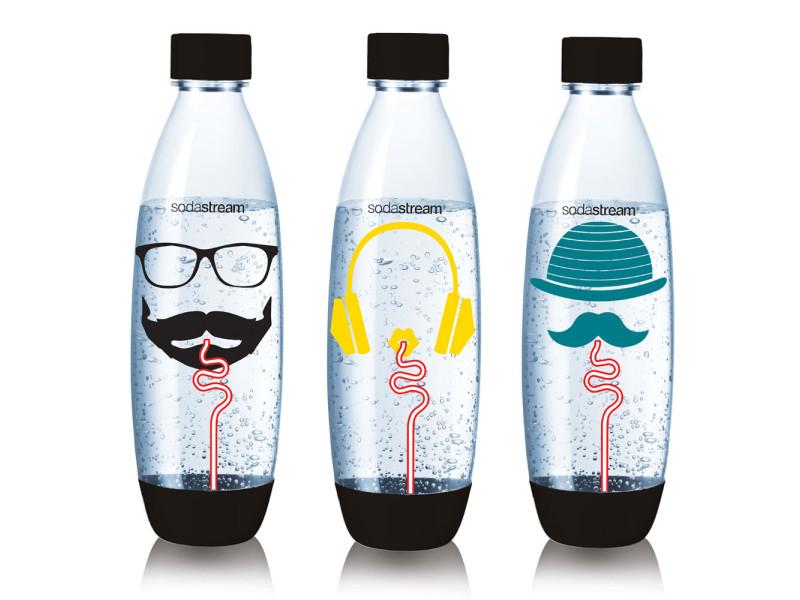 Pack de 3 bouteilles de 1l pour machines à gazéifier modèle aléatoire - 3000143 3000143