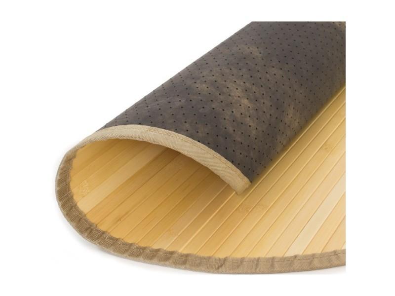 tapis en bambou rond naturel 200cm tap06082 vente de tapis de bain conforama. Black Bedroom Furniture Sets. Home Design Ideas