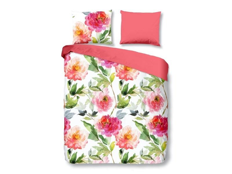 Parure de lit roses - 200x200 cm