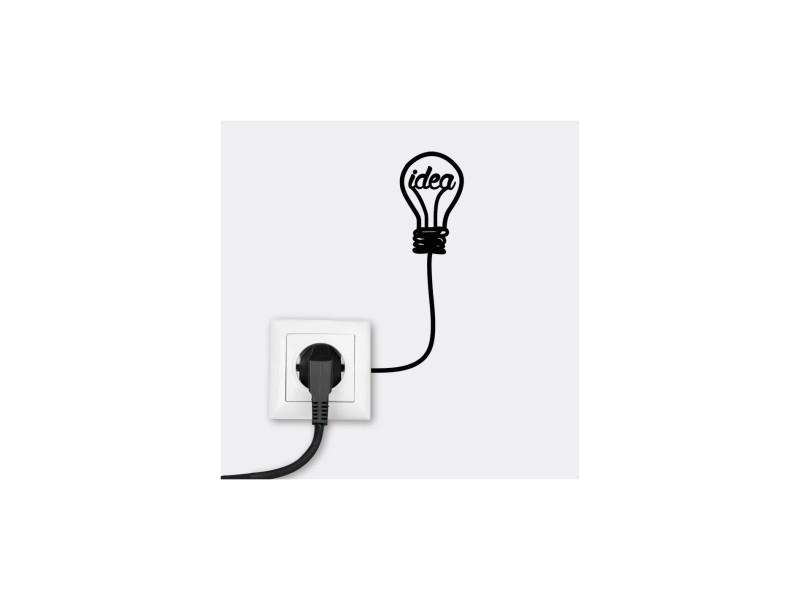 Sticker prise : ampoule idea
