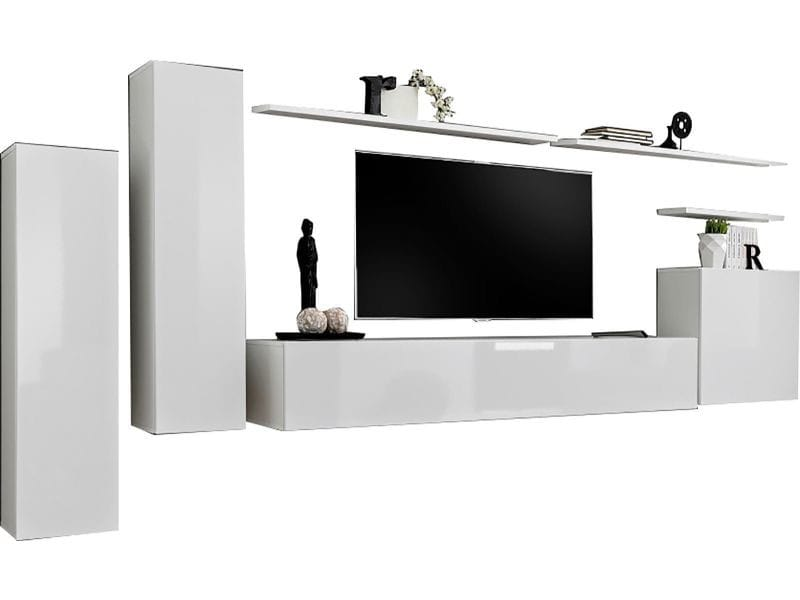 Ensemble Ultra Design 330 Cm Meuble Tv 3 Etageres 2 Colonnes Et