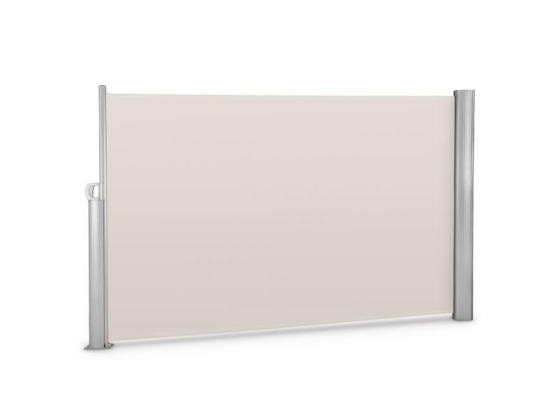 Blumfeldt bari 318 cloison pare-vue latéral - 300x180cm - cadre aluminium - crème sable