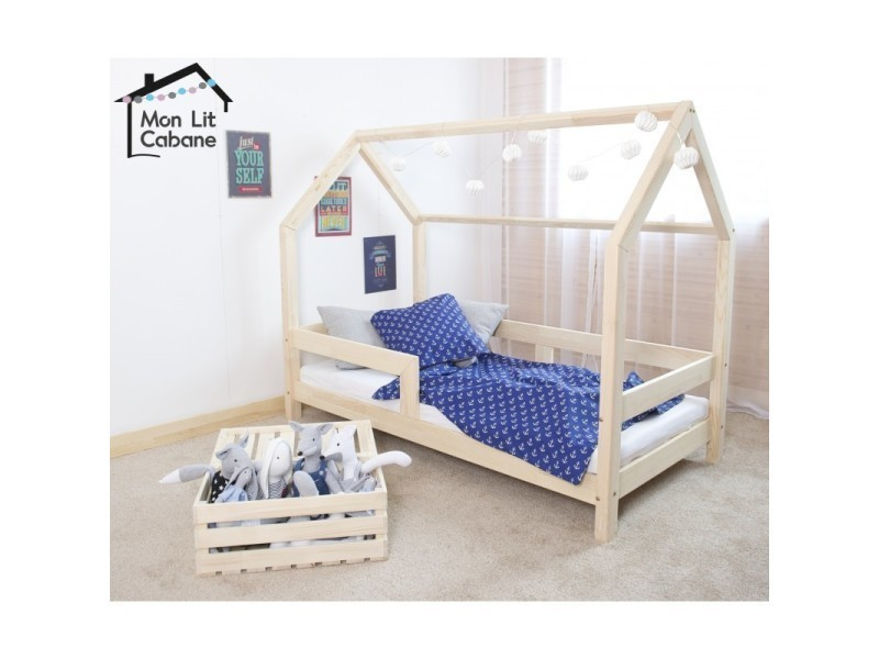 lit cabane cb 90x180 sommier vente de monlitcabane. Black Bedroom Furniture Sets. Home Design Ideas