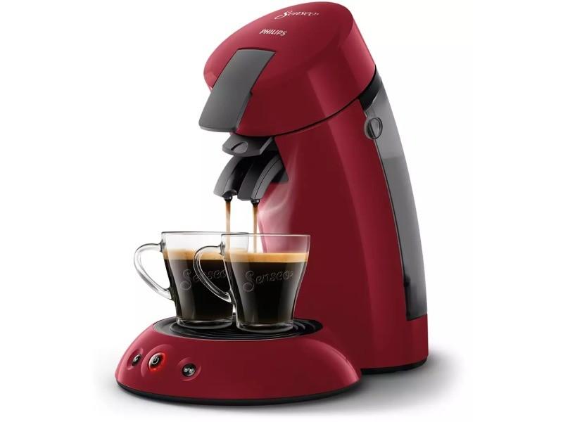 Cafetière senseo hd6553/81 - rouge rio