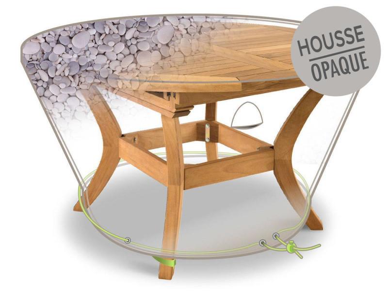 Housse de protection pour table ronde ø120 x 50 cm galets