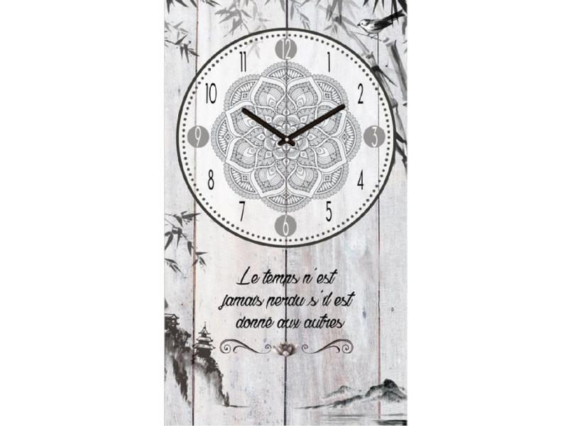 Pendule citation 50 cm le temps