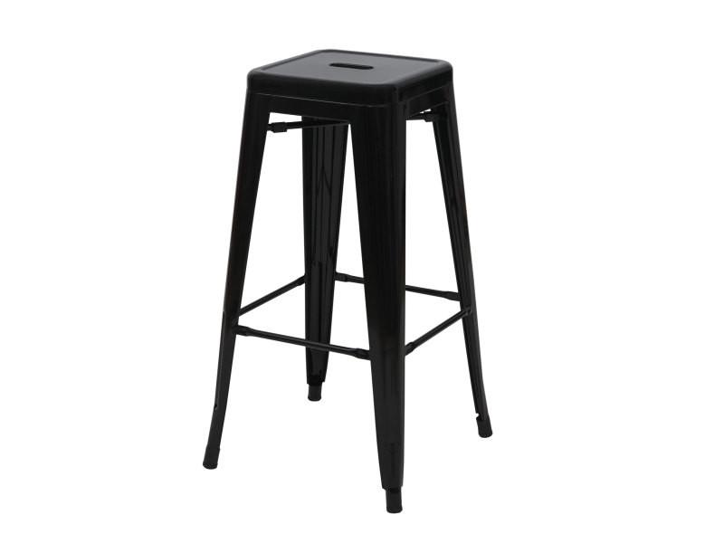 nouveau style 57885 93392 4x tabouret de bar hwc-a73, chaise de comptoir, métal ...