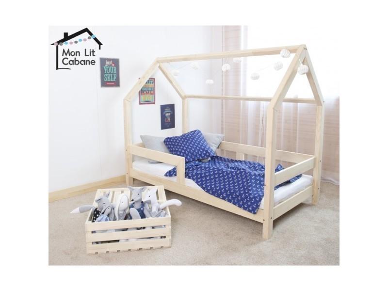 lit cabane cb 80x180 sommier vente de monlitcabane. Black Bedroom Furniture Sets. Home Design Ideas