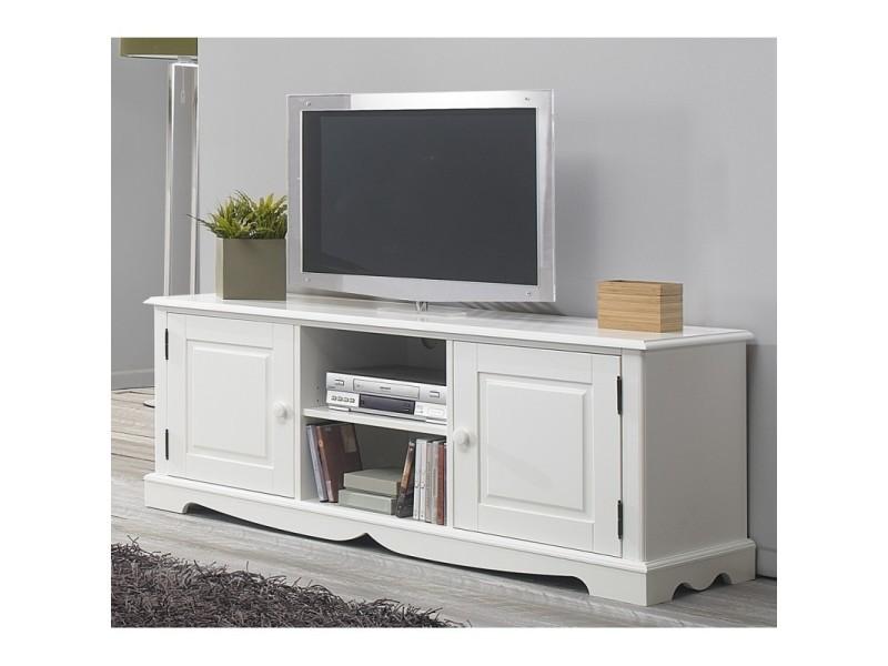 Meuble Tv Hifi Blanc Charme De Style Anglais Vente De Meuble Tv