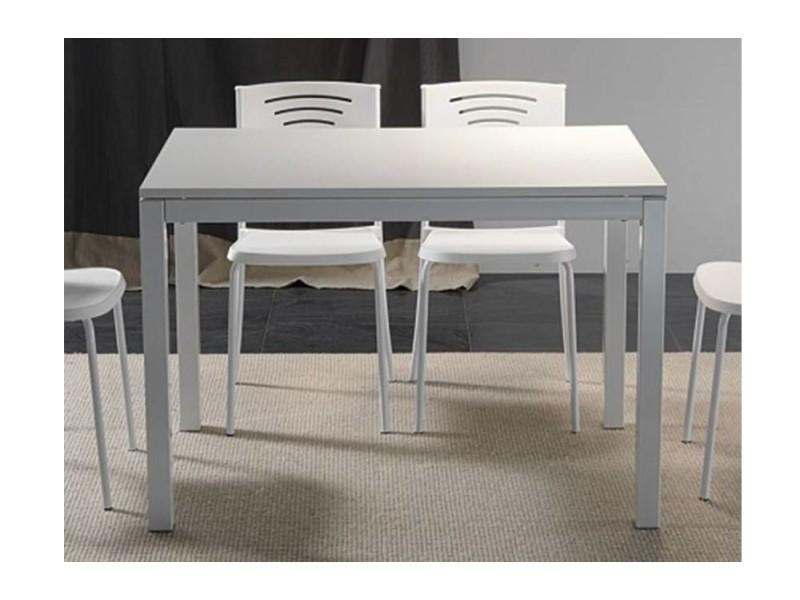 Table repas extensible majestic 130 x 80 cm blanche 20100836718