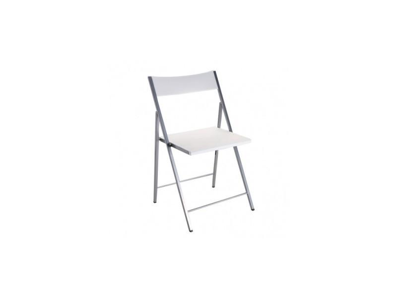 Chaise Pliante Blanche Poly