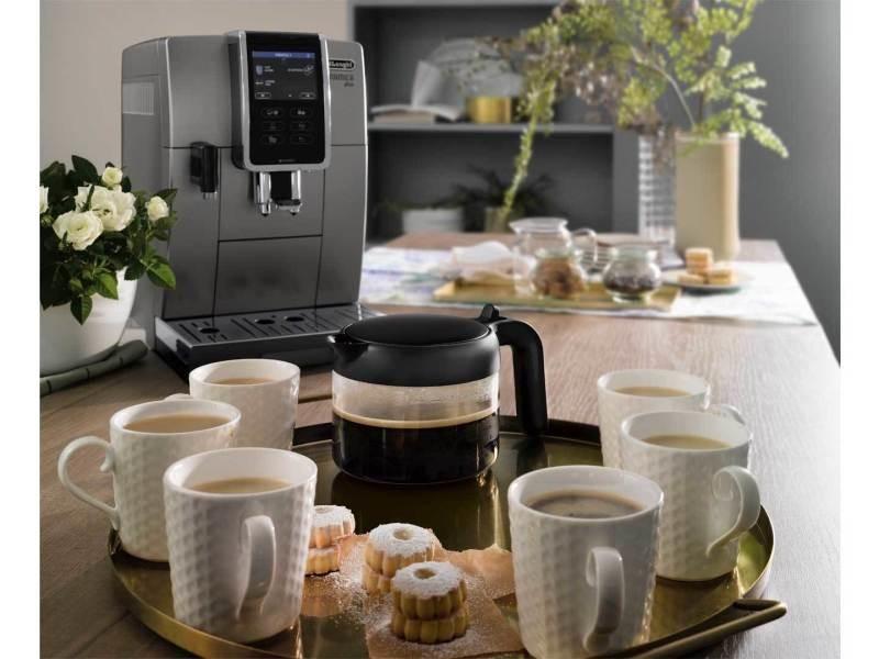 Machine à expresso avec écran et broyeur pour café en grains et moulu 1450w gris