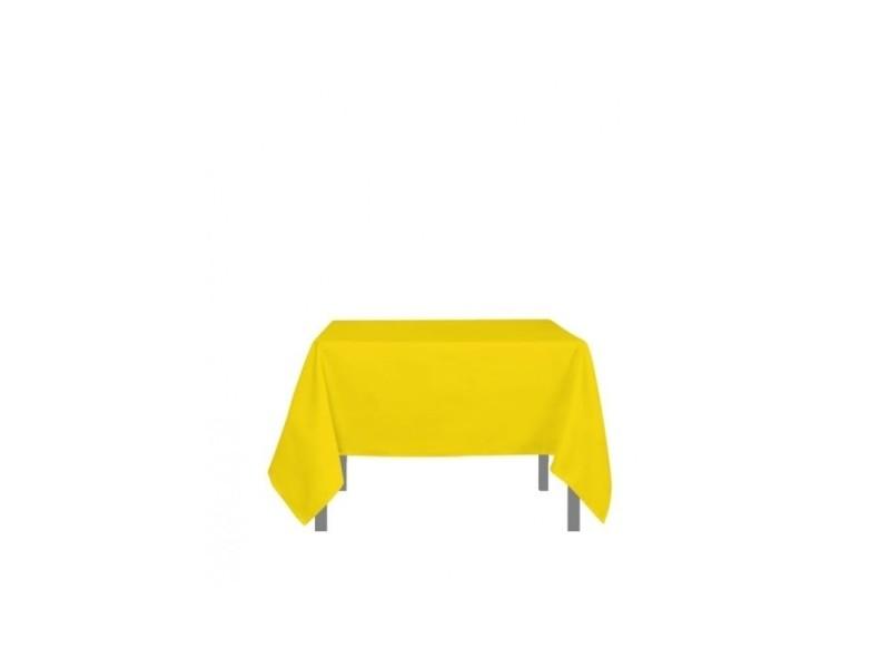 Nappe carré anti-tâches alix - l 180 x l 180 cm - jaune