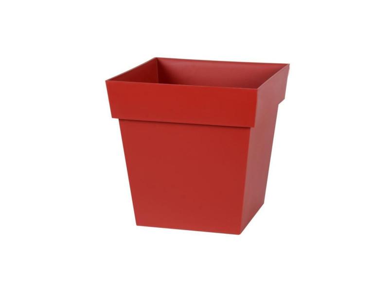 Eda pot carré toscane 32 cm - contenance 22 l - rouge rubis