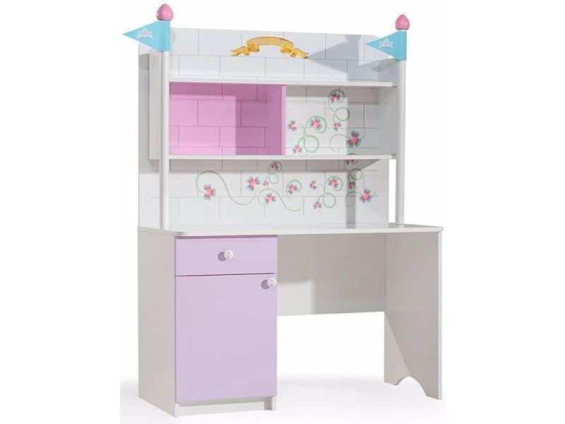 Bureau enfant fonctionnel coloris blanc et rose vente de comforium