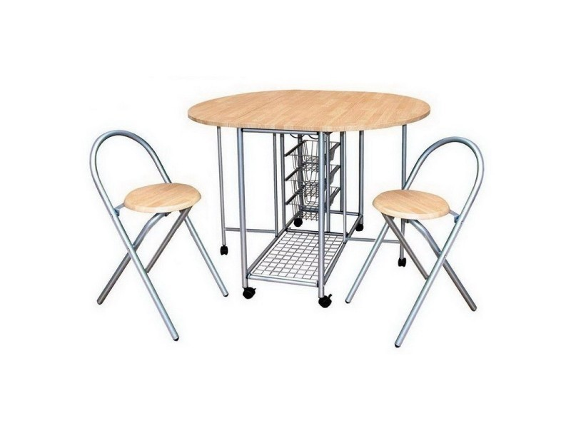 Ensemble Pliable 1 Table Ronde Et 2 Chaises Colleciton Beta