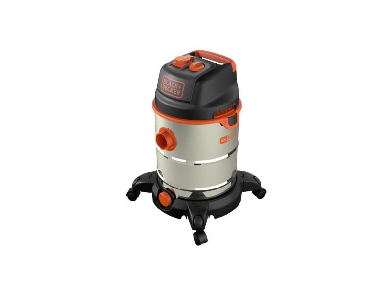 Black & decker aspirateur eau et poussiere 1600 w cuve 30 l en inox avec prise pour outil électroportatif BXVC30XTDE51689