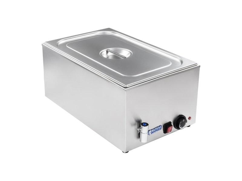 Bain-marie électrique professionnel bac gn 1/1 avec robinet de vidange 1 200 watts helloshop26 3614099