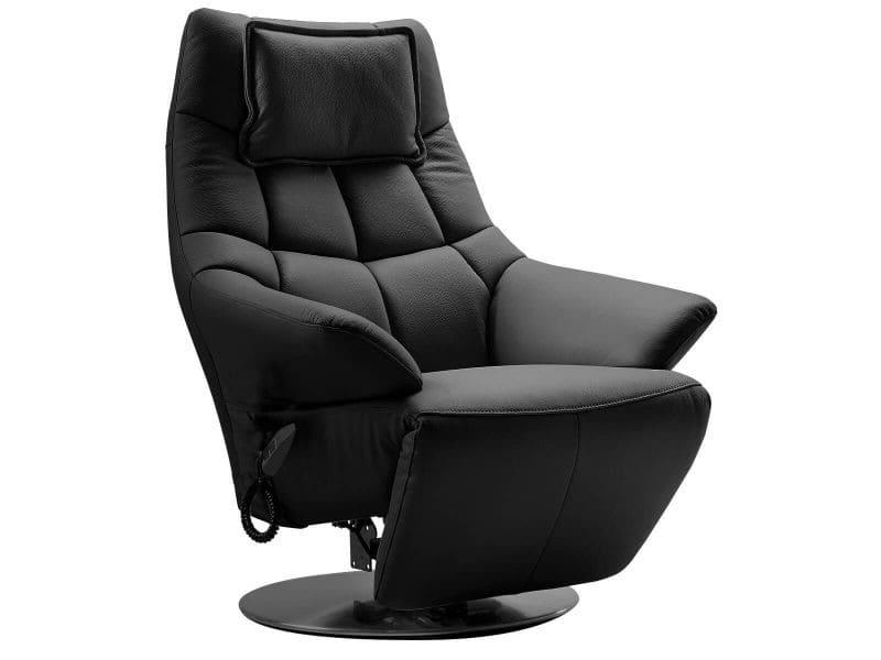 Radona - fauteuil relax electrique cuir noir