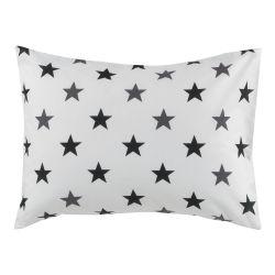 Cotonflor - taie d'oreiller figaro blanc - 50 x 70 cm